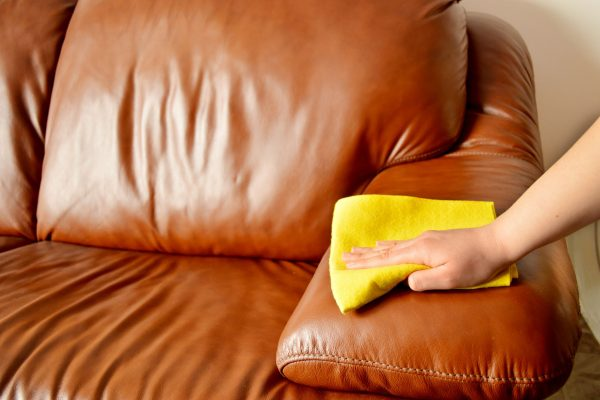 How to clean leather furniture the right way.